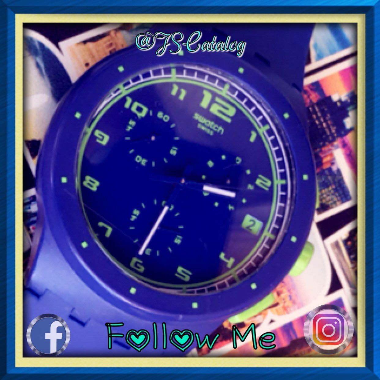 SWATCH Blue Lime Women Watch Mercari The Selling App