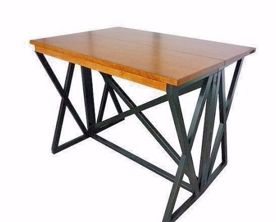 Bar Height Folding Table Breakfast Dining Space Saving Kitchen