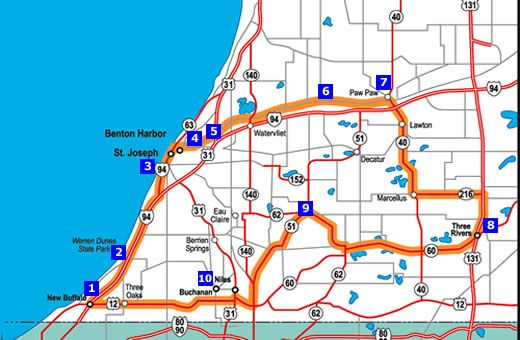 New Buffalo Michigan Map.Road Trip To Michigan New Buffalo St Joseph Benton Harbor Paw