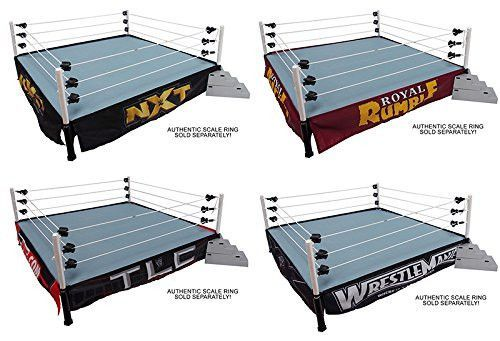 RING NOT INCLUDED WWE AUTHENTIC SCALE RING SKIRTS and RING SKIRTS MAT COMBOS