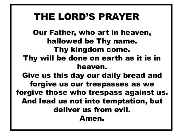 our father prayer in english pdf