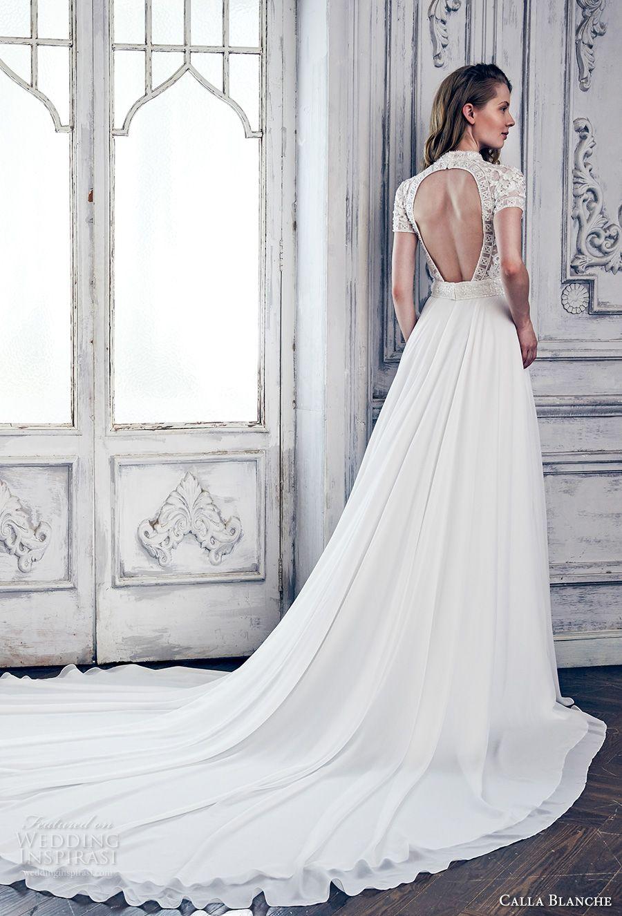 Spring 2017 Short Haircuts: Calla Blanche Spring 2017 Wedding Dresses