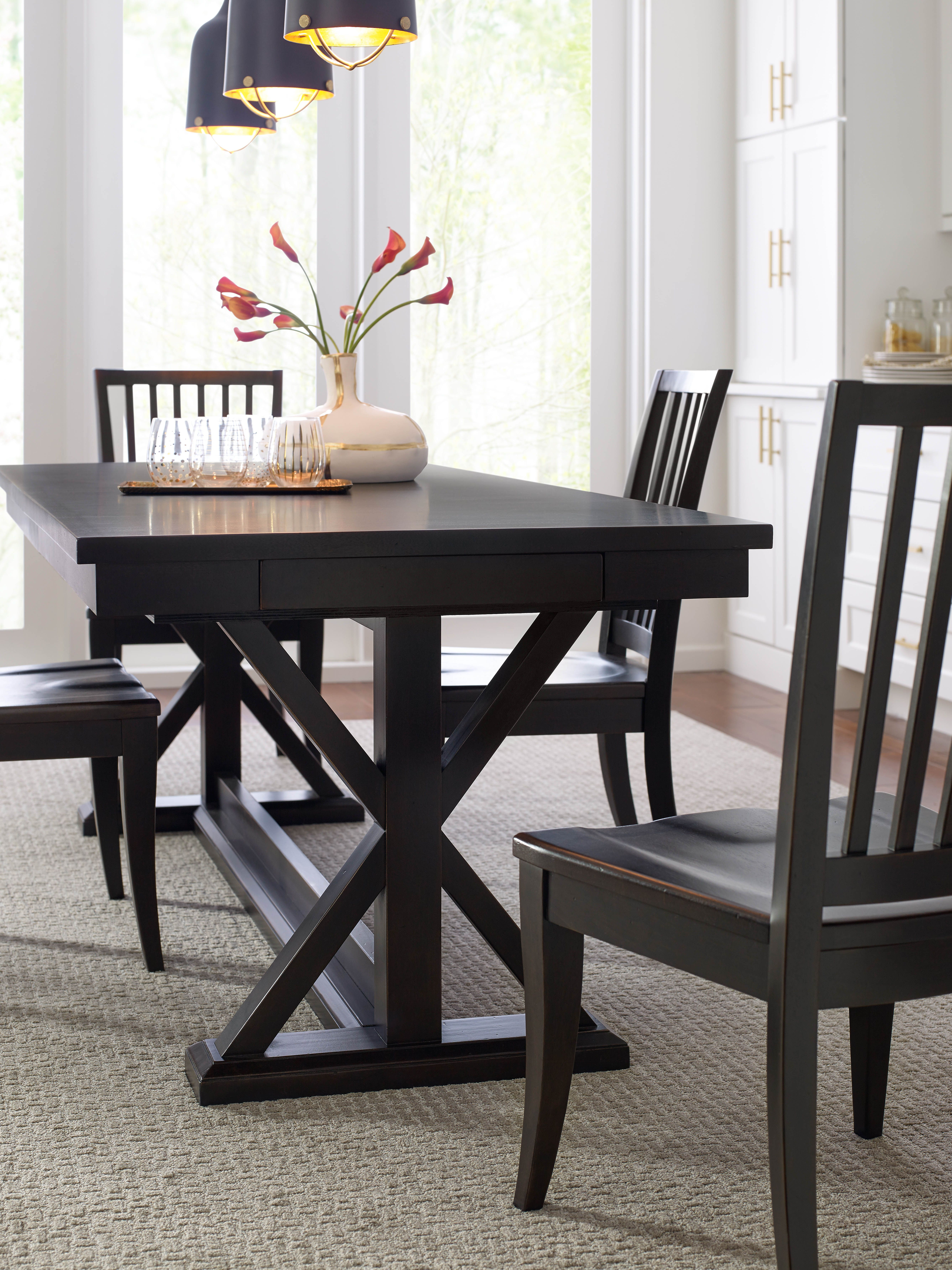 Rachael Ray S Everyday Dining Trestle Table In Peppercorn