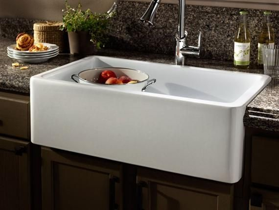 Kitchens With Farmhouse Apron Sinks | Apron Front Or Farmhouse Sinks Add To  A Cottage