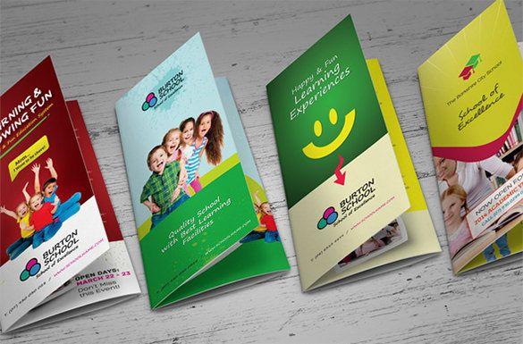 Contoh Brosur Tk Ra Dan Paud Brochure Pamphlet Designs Pinterest