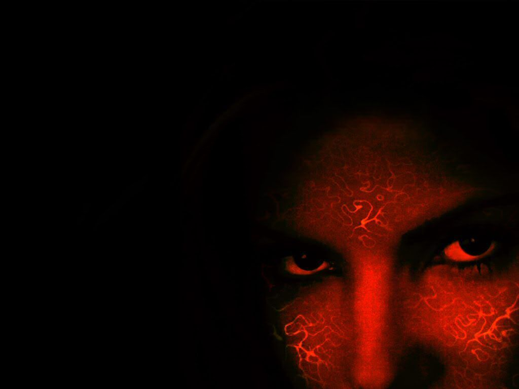 Red Face On Black Red And Black Background Red Wallpaper Black Background Wallpaper