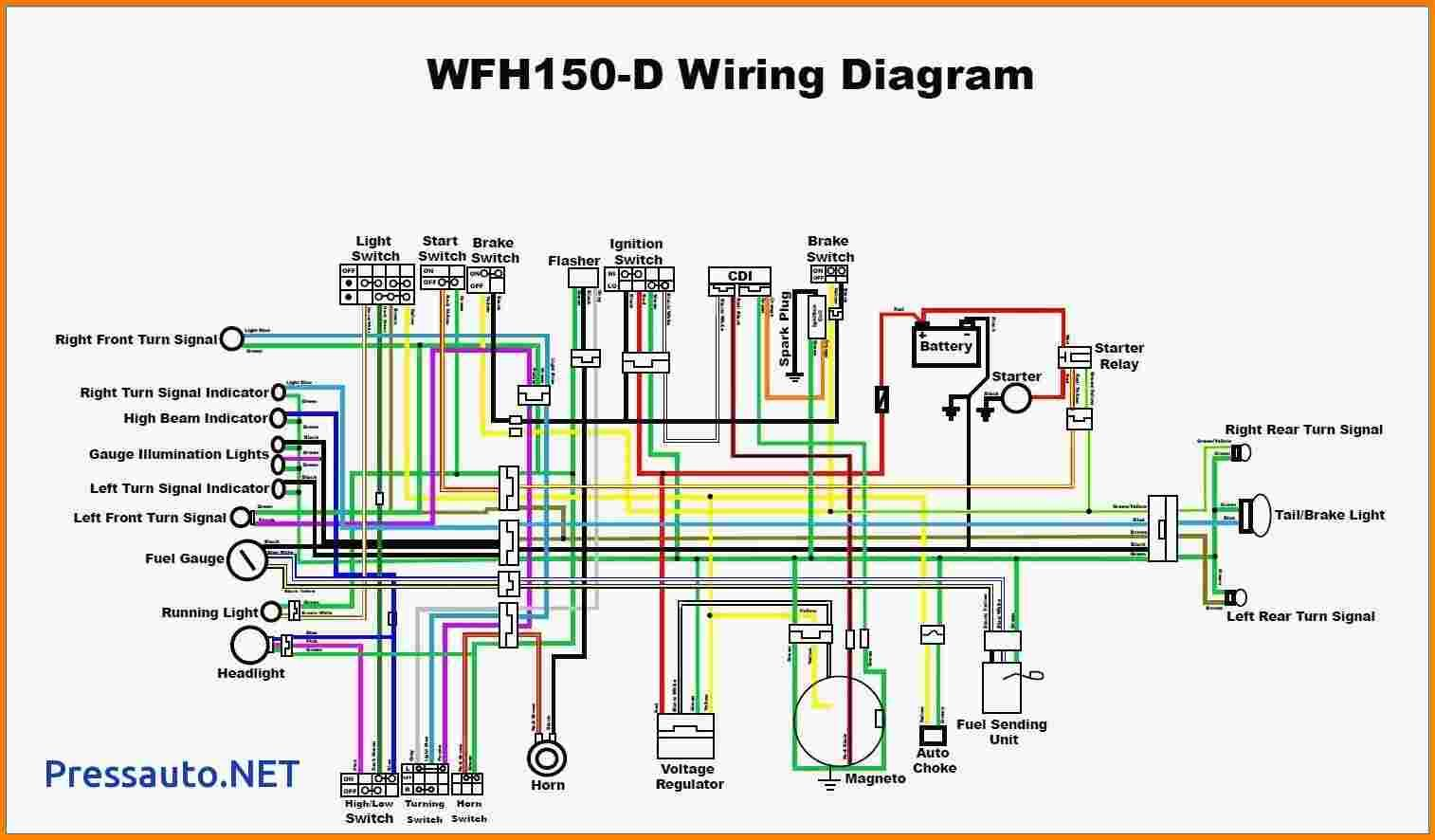 90cc Atv Wiring Diagram Within For Chinese 110 Electrical Diagram 150cc Go Kart 150cc Scooter