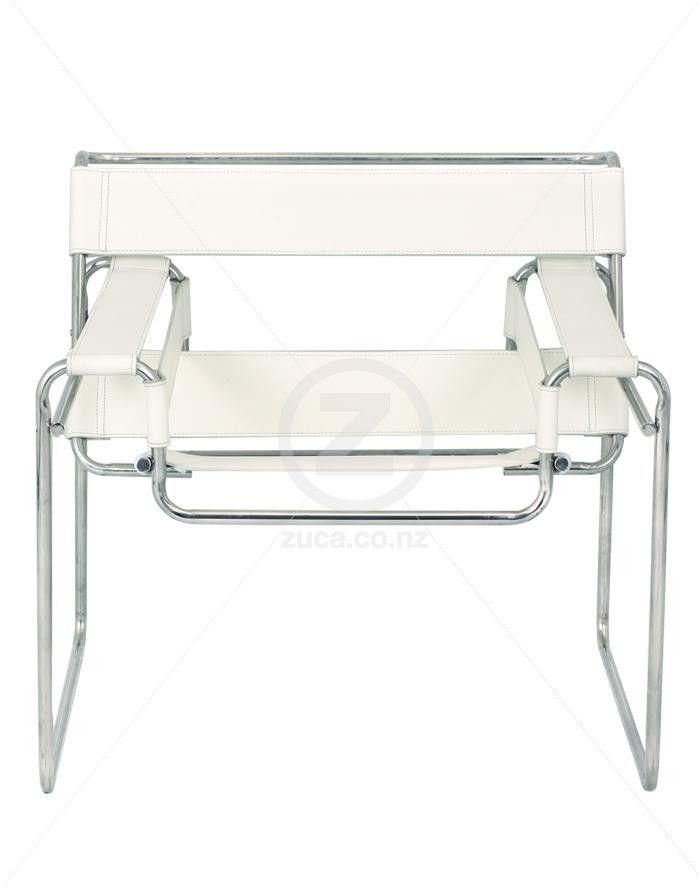 Replica Wassily Chair   Premium Italian Leather   White | ZUCA | Homewareu2026