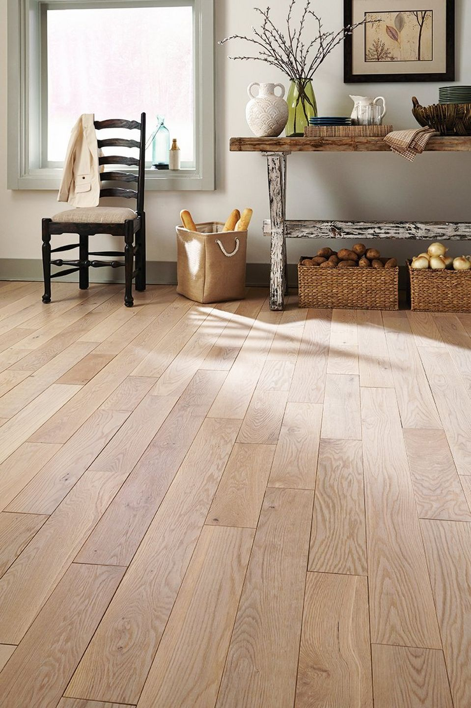 Style Simplified Farmhouse in 2019 Hickory wood floors