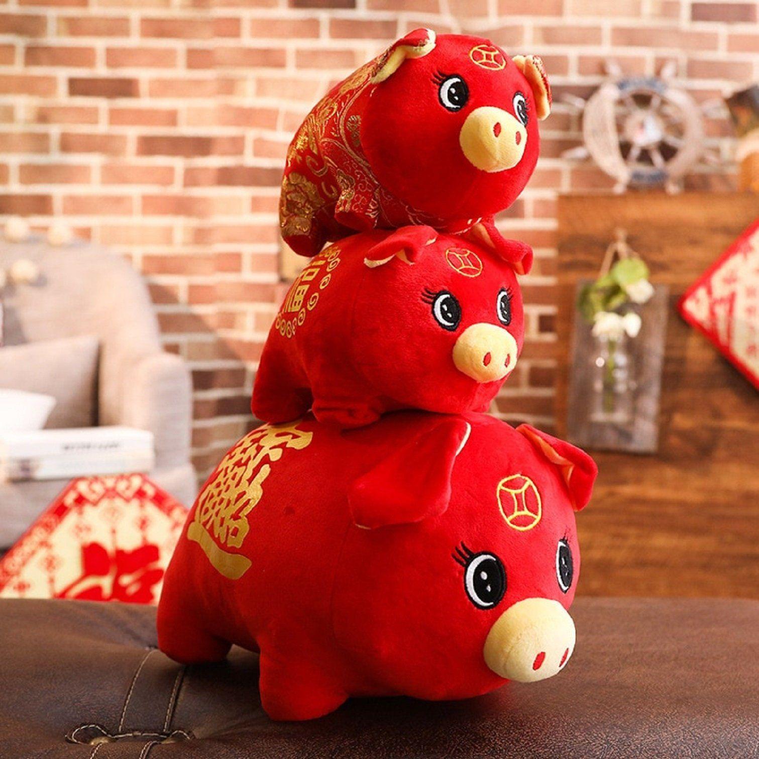 Pig Year Plush Pig 1 Pcs Soft Toy Chinese New Year 2019 ...