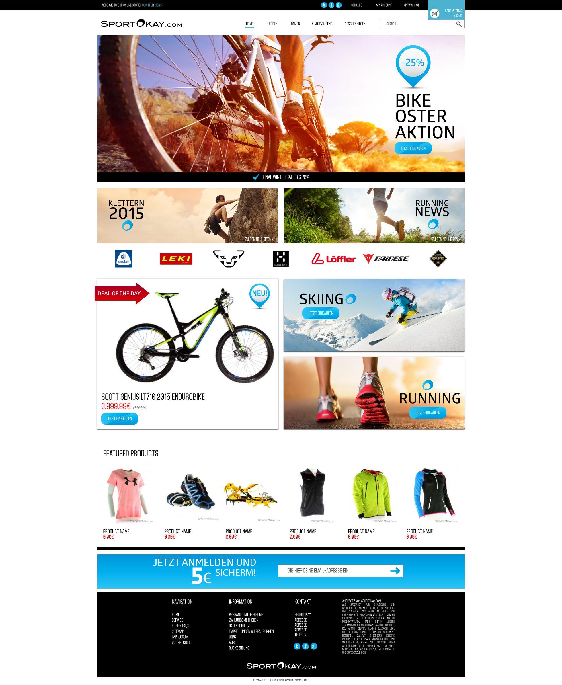 e commerce sports sports websiteweb design projectsideas - Web Design Project Ideas