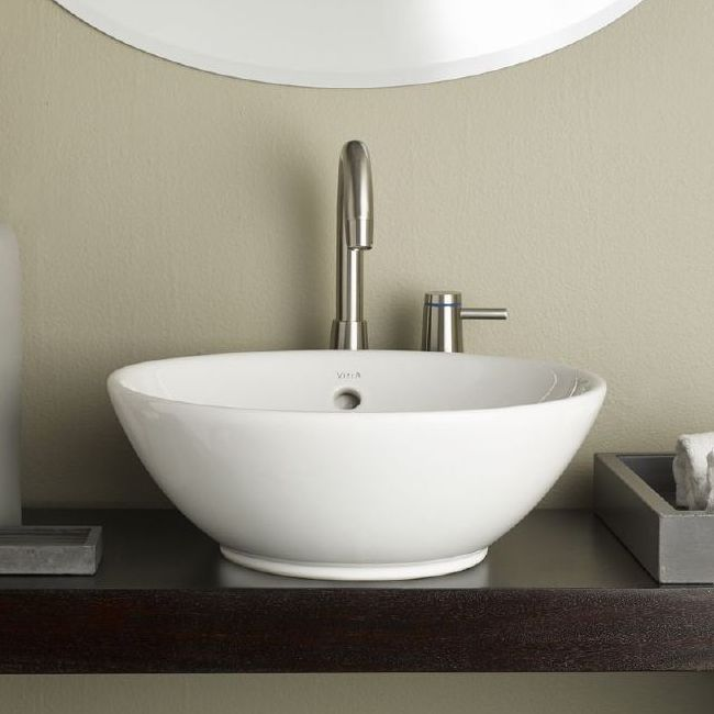 sink vessel collection round vessel sink with whirlwind brown paint pattern lowes  canada vessel sink