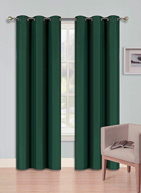 Gorgeoushomelinen Kk92 1 Hunter Green Curtain Heavy Thick