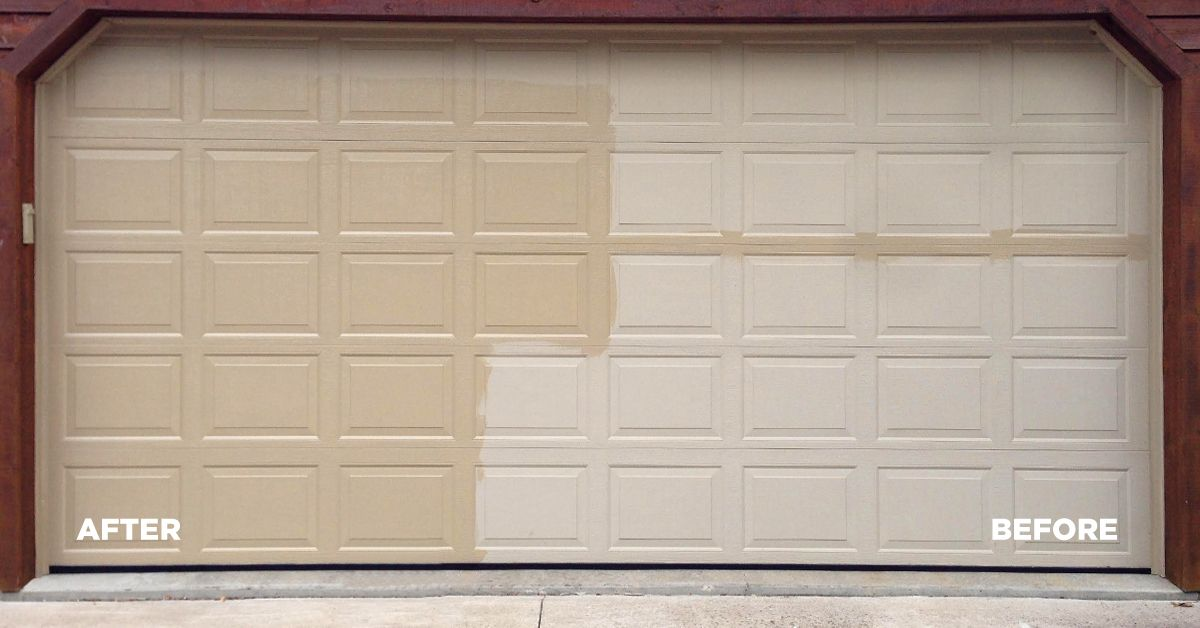 Years Of Oxidation On Your Aluminum Garage Doors Vanish With A Single Application Of Al New Itssimple Itsal Aluminium Garage Doors Garage Doors Clean House