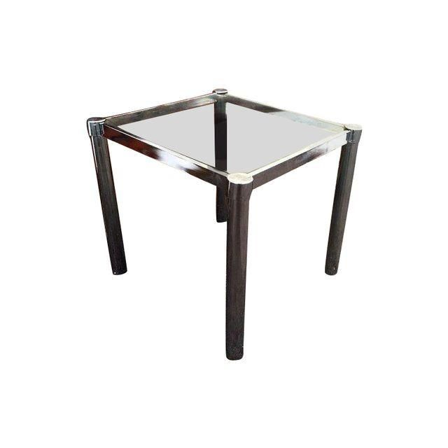 Lovely Mid Century Side Chrome End Side Table With Chrome Legs