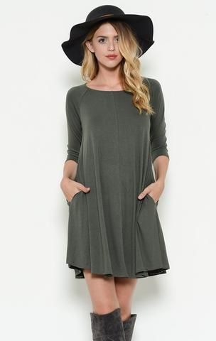 Wisteria Dress - Charcoal
