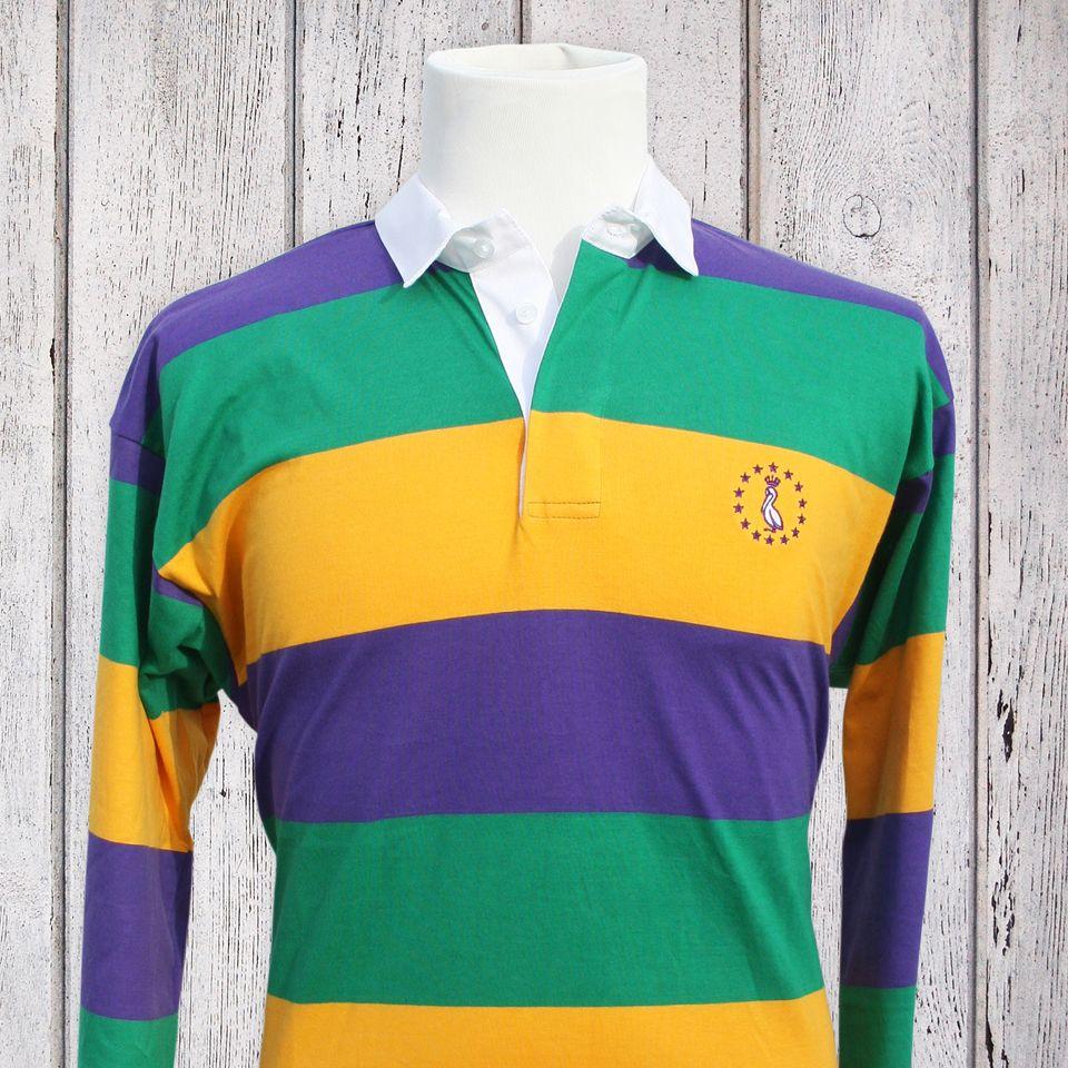 Mardi Gras Rugby Shirt Purple Gold