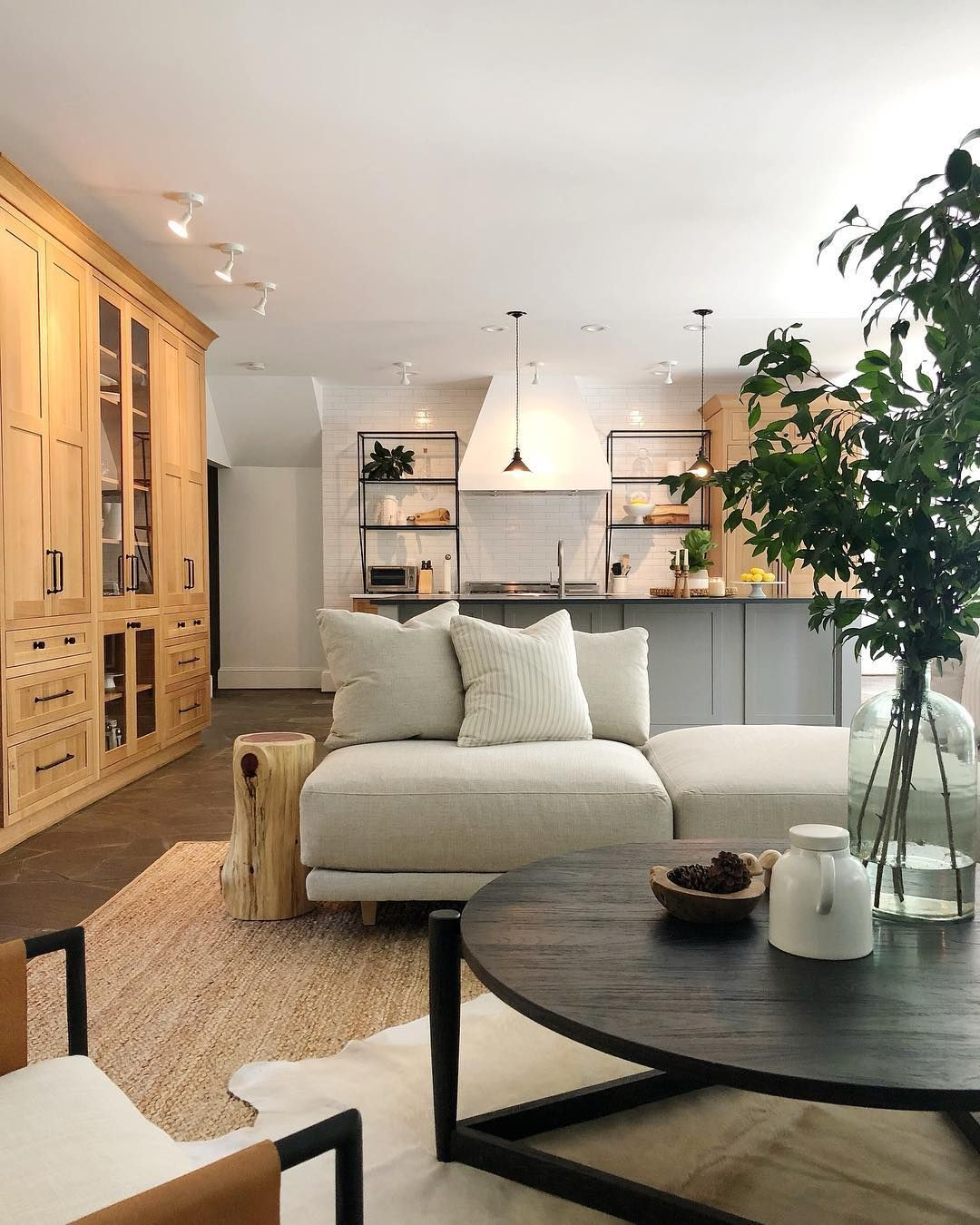 Making The Case For Open Concept Before There Was A Wall Dividing The Kitchen And Family Room Preventing Mean Open Concept Family Room Family Room Sectional #open #concept #living #room #with #sectional