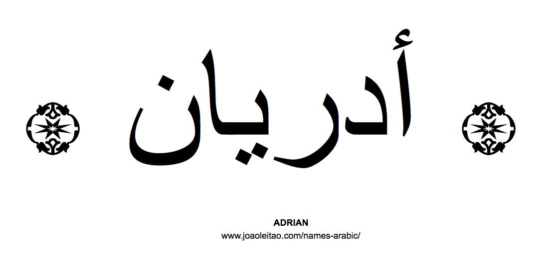 Adrian In Arabic, Name Adrian Arabic Script, How To Write