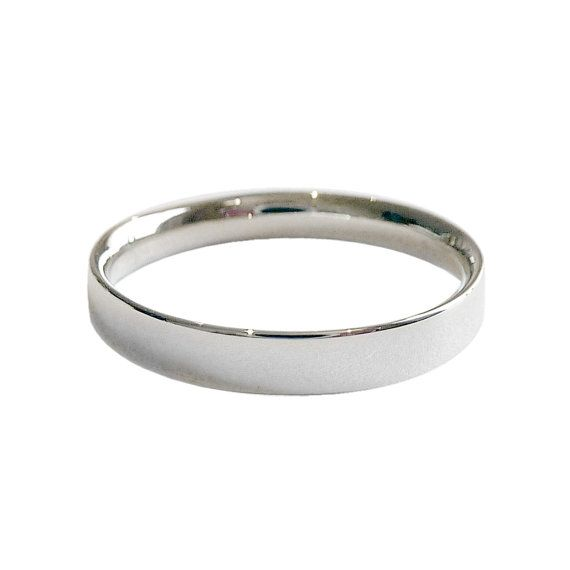 The Most Comfortable Wedding Band 14k White Gold on Etsy 27500
