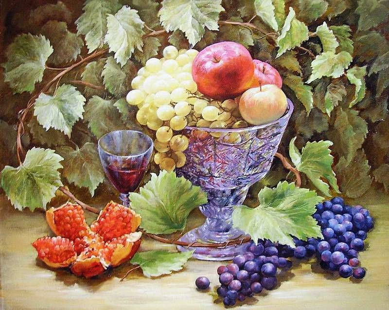 Осенний натюрморт Татьяны Кулигиной