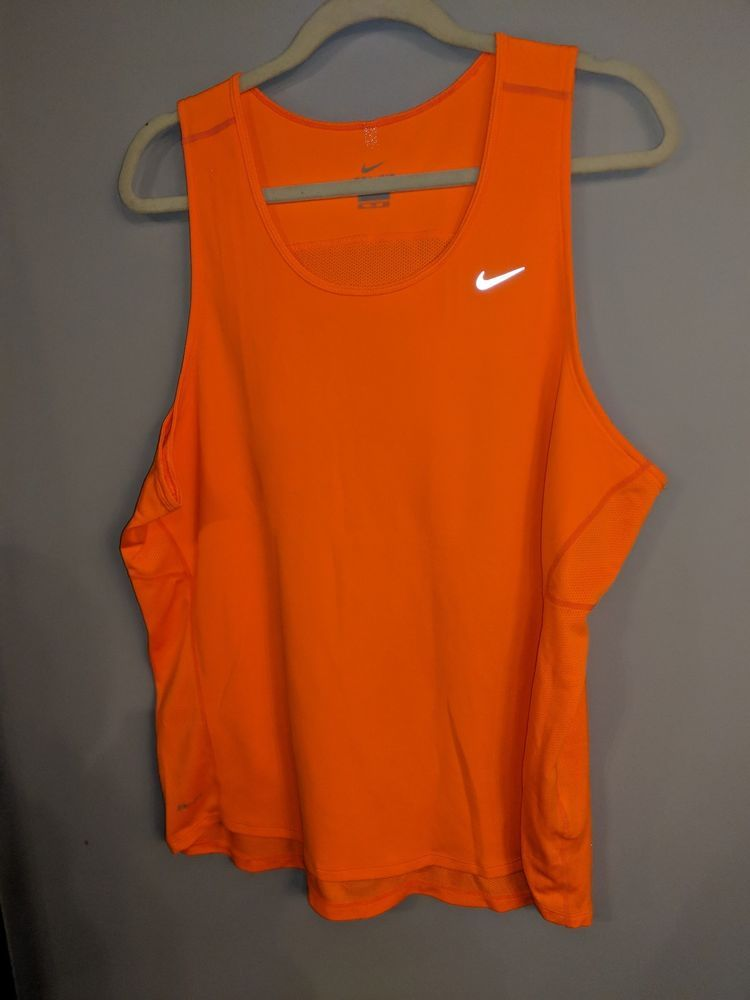 c2a9eef3c40aa Mens Nike Dri Fit Tank Top Size XXL Bright Orange Mesh Performance  Reflective  fashion  clothing  shoes  accessories  mensclothing  activewear  (ebay link)