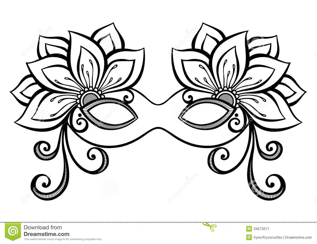beautiful masquerade mask vector by krivoruchko on vectorstock