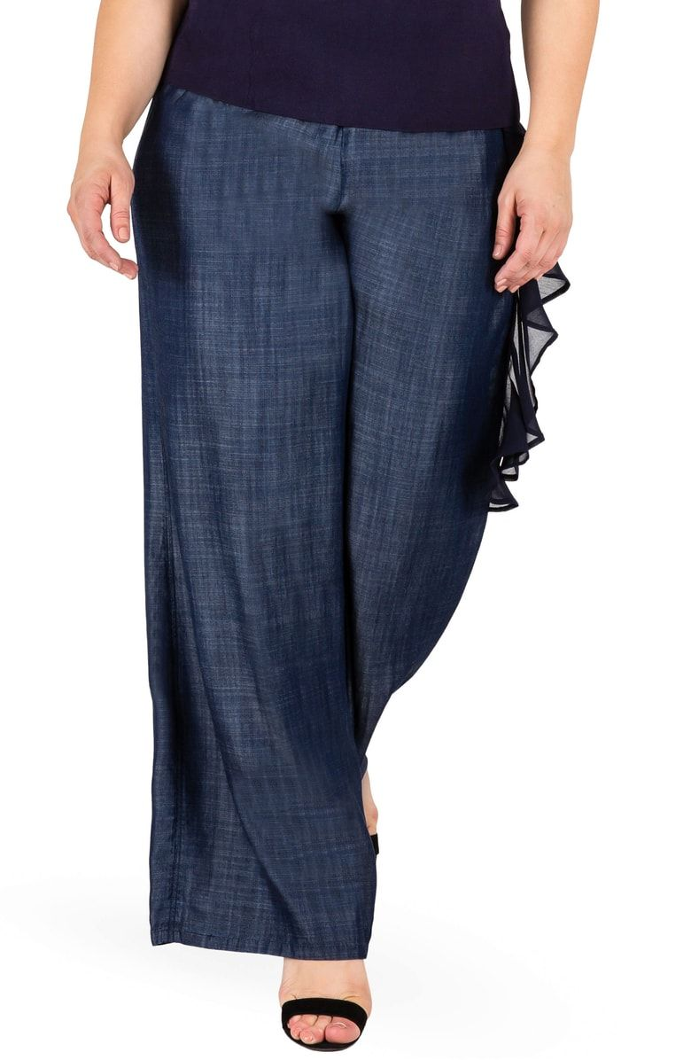 84726947f4b Free shipping and returns on Standards   Practices Olga Wide Leg Denim  Pants (Plus Size
