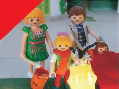 Auf den Laternenumzug haben alle Kinder der Playmobil Kita Sonnenschein schon lange gewartet. Endlich ist es soweit! Und St.Martin reitet sogar auch mit.