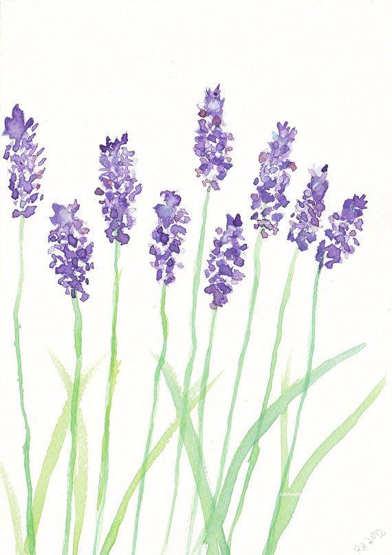 Lavendel Acuarela De Navidad Flores Pintadas