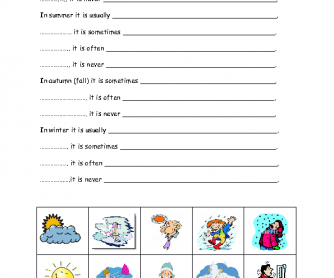 This worksheet can be used for revising weather related vocabulary ...