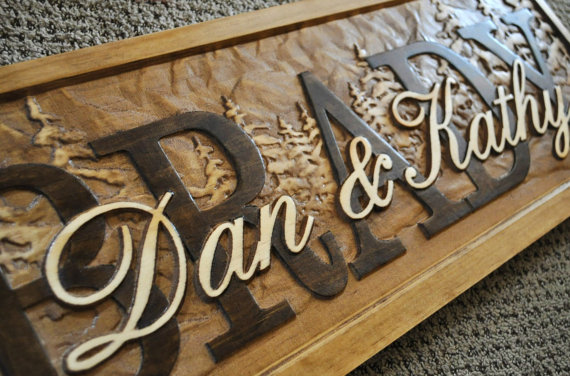 Personalized Sign Plaque Custom Carved Wood Wedding Gift Family ...