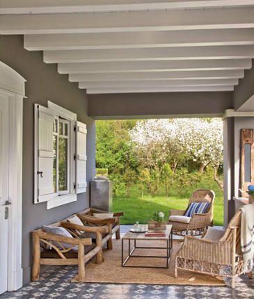 a spanish porch in the north - Porches Rusticos