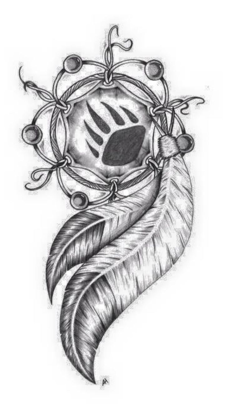 Tribal Dreamcatcher But It Will Have A Deer Track Native American Tattoos American Tattoos Native Tattoos