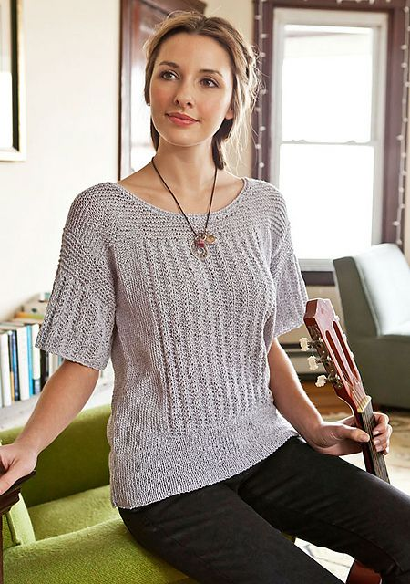 The Perfect Knitting Pattern For Summer Loose Fitting Summer Tee