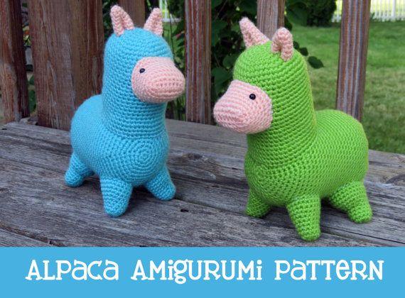 Crochet Pattern Alpaca Amigurumi Pdf Instant By Milesofcrochet