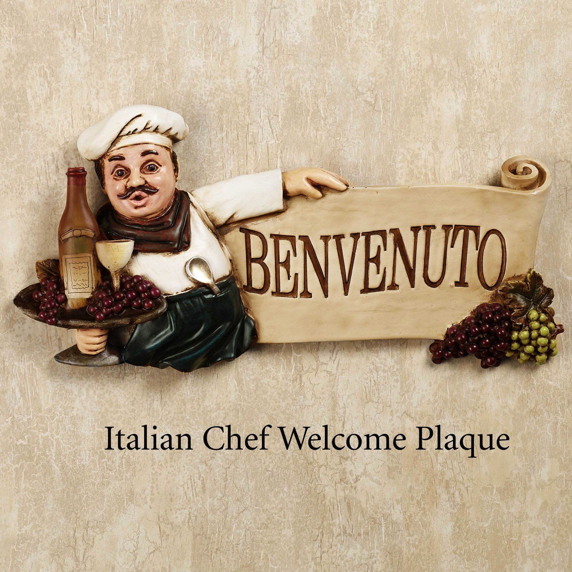 English Chef Welcome Wall Plaque