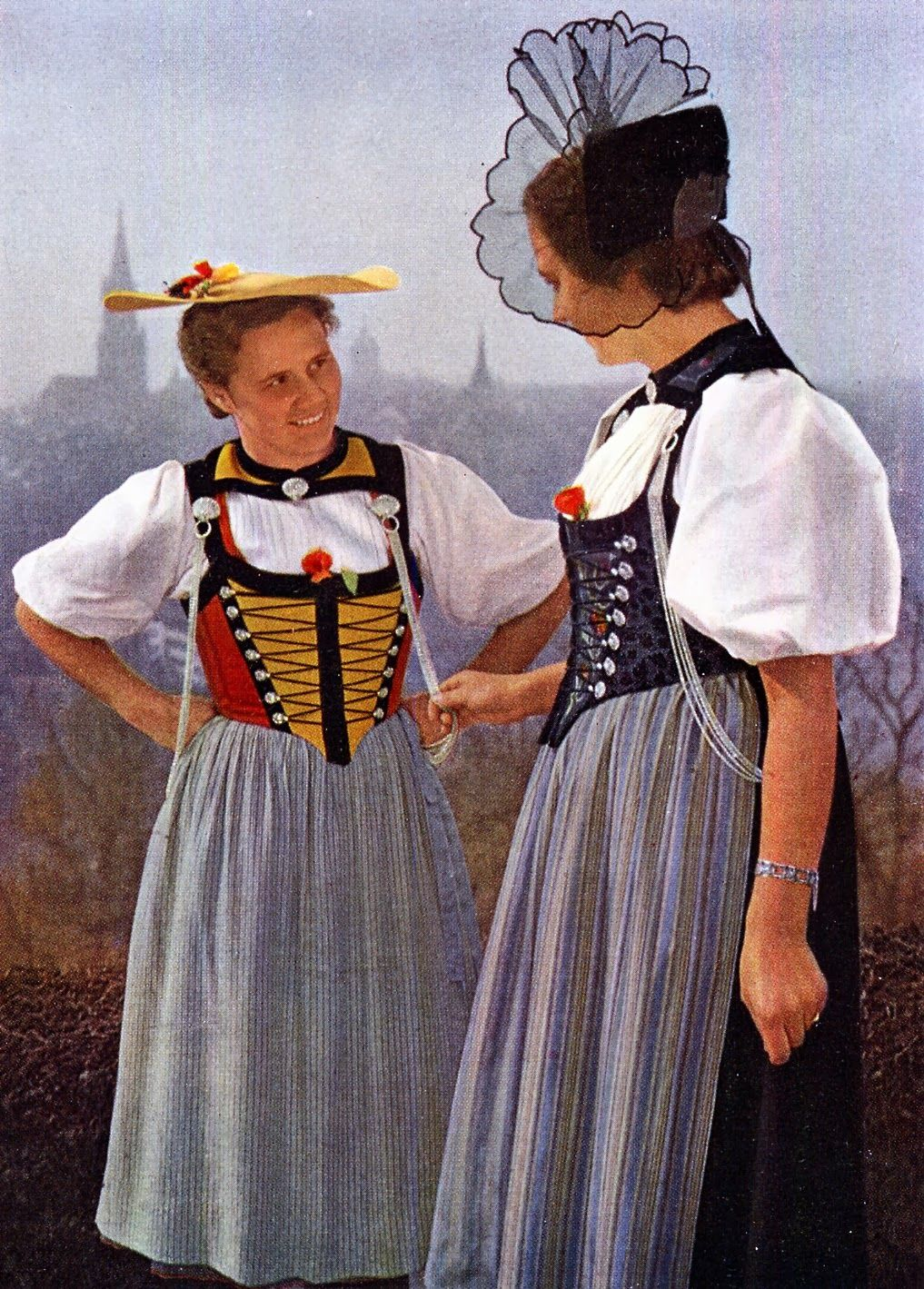 FolkCostume&Embroidery: Overview of Swiss Costume   German traditional  dress, Swiss clothing, Folk clothing