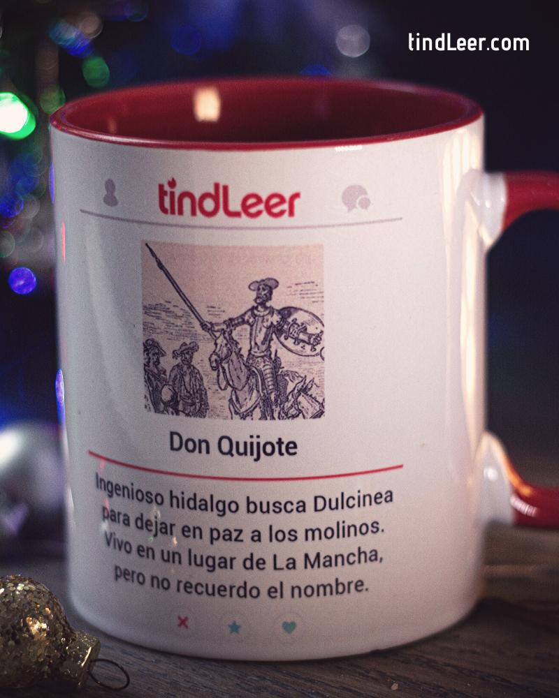 Taza Don Quijote - TindLeer #tazasceramica