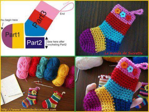 calcetines tejidos - Hakelmutzen Muster