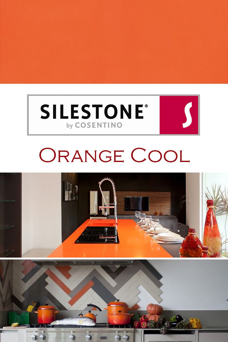 Orange Cool By Silestone Is Perfect For A Kitchen Quartz Countertop Installation How To Install Countertops Quartz Kitchen Countertops Quartz Countertops Orange countertops in kitchen