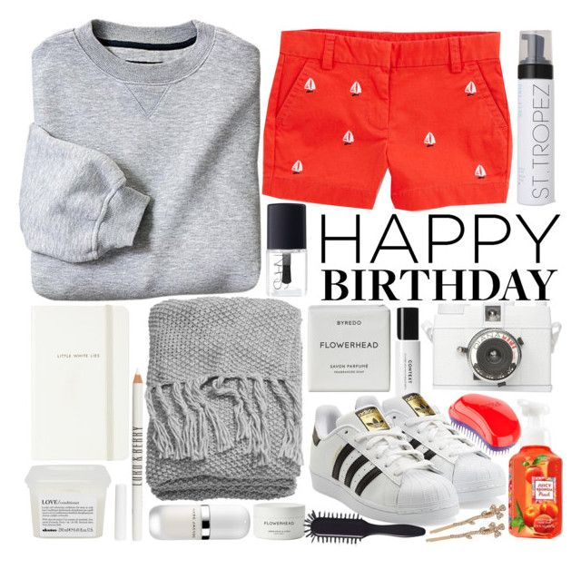 """""""happy birthday maddie!"""" by smileylauren ❤ liked on Polyvore featuring Vineyard Vines, Kate Spade, H&M, Davines, Lord & Berry, Marc Jacobs, Byredo, Lomography, NARS Cosmetics and St. Tropez"""