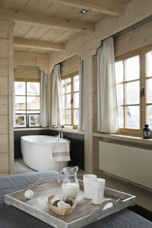 Salle de bain style chalet rustique | Espaces de la maison | Brown ...
