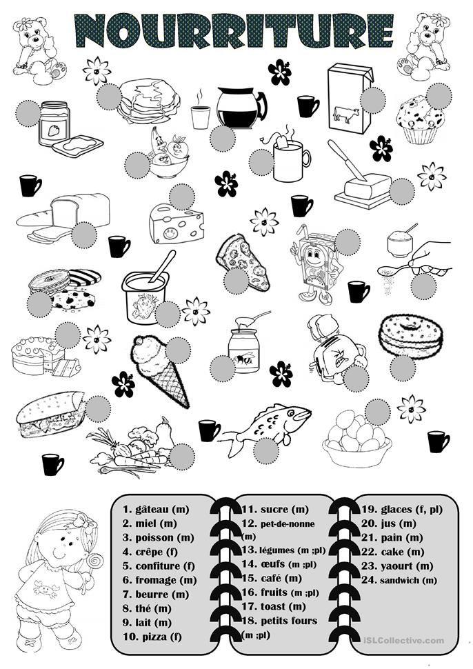 Nourriture Enseñanza de francés, Clases de francés