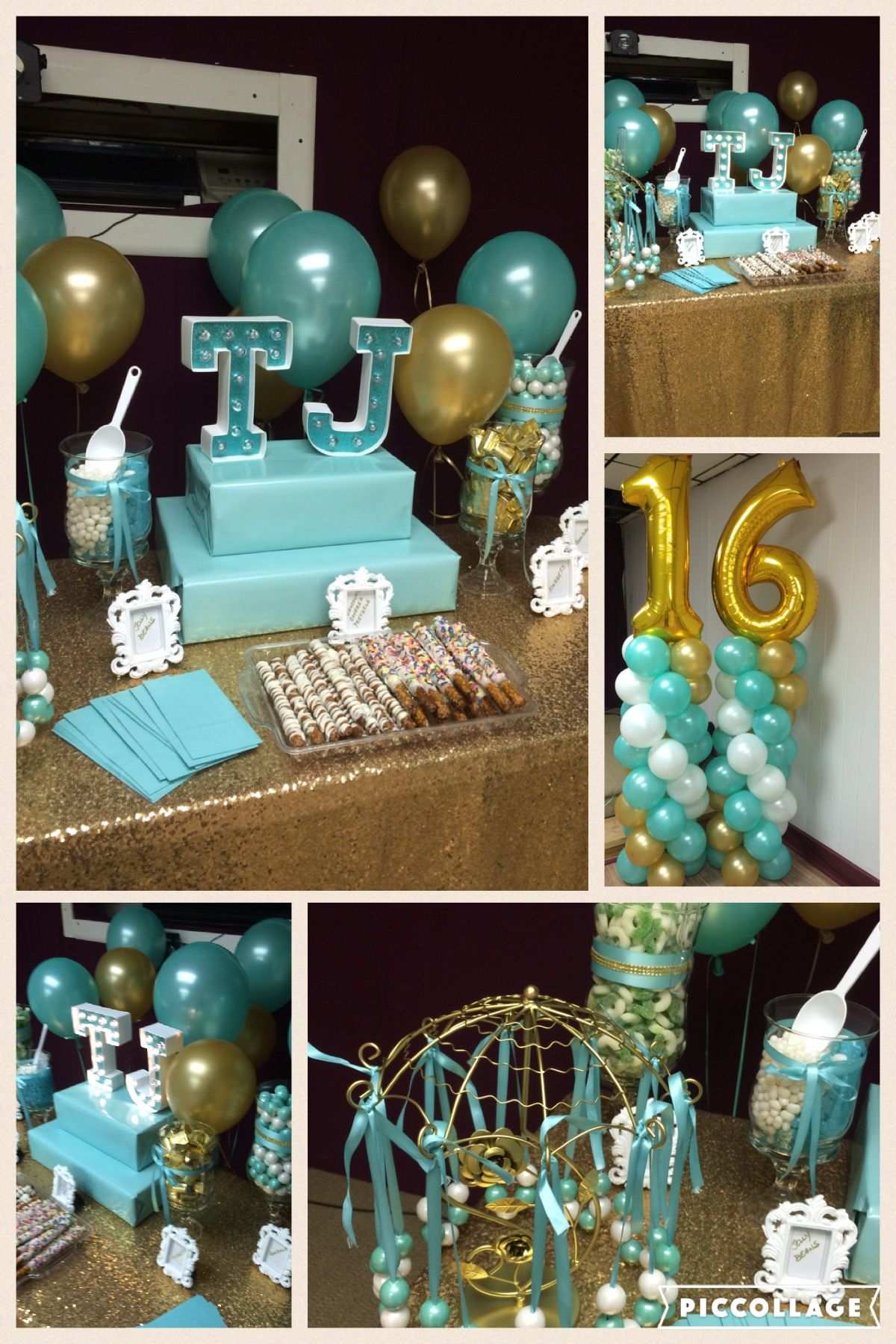 By Angie S Special Events And Balloons Sweet 16 Birthday