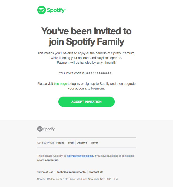 Spotify Sent This Email With The Subject Line YouVe Been Invited