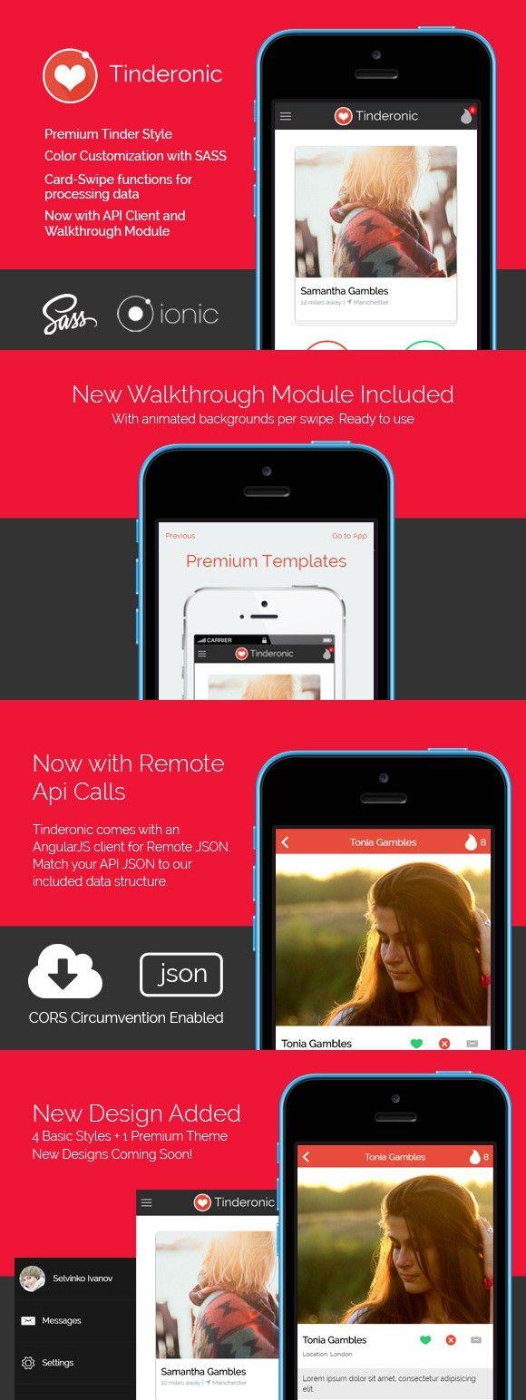 Tinderonic - Tinder Starter Theme fo | View app, App