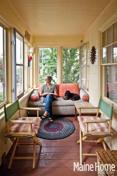 An artful collage collage sunroom and porch for Small enclosed deck ideas