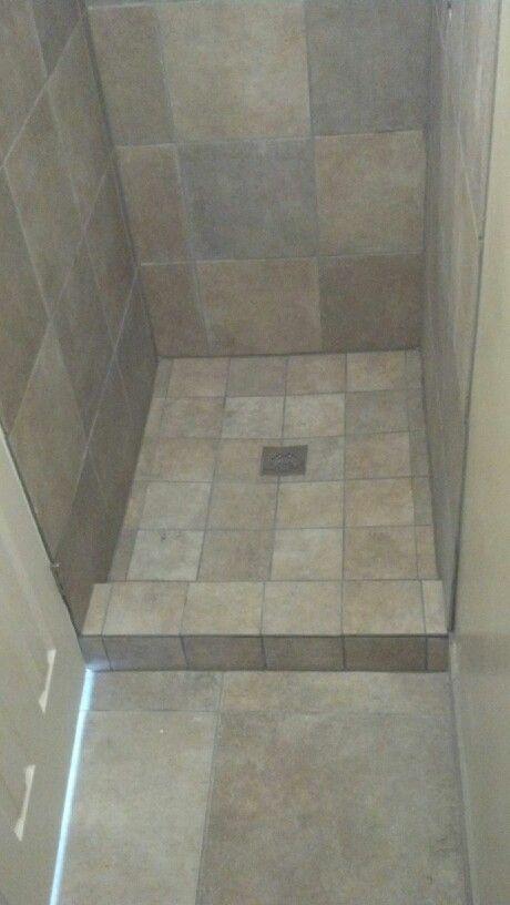 Small shower tile floor