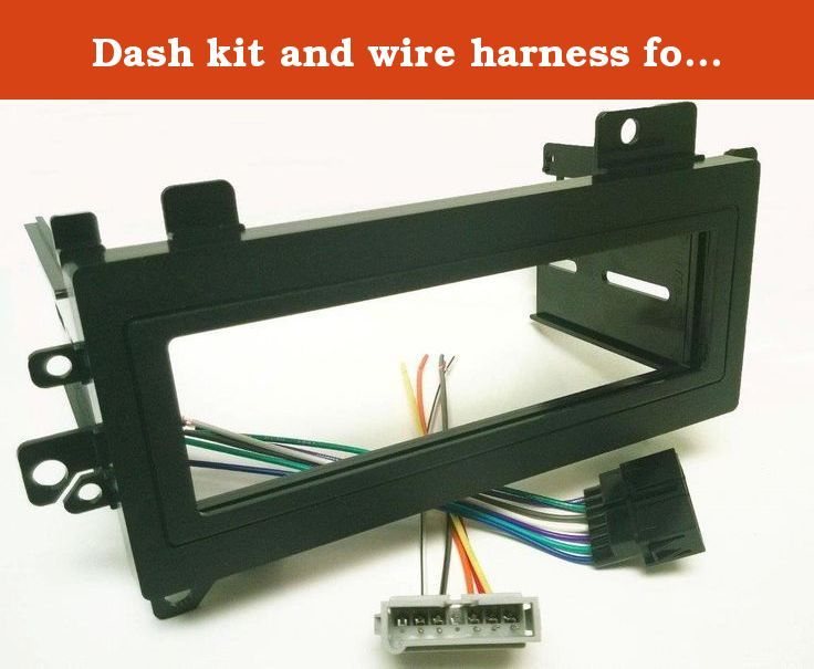 Dash Kit And Wire Harness For Installing A New Single Din Radio Into A Jeep Grand Cherokee 1993 1998 And A Dodge Avenger 1995 20 Dodge Avenger Jeep Harness